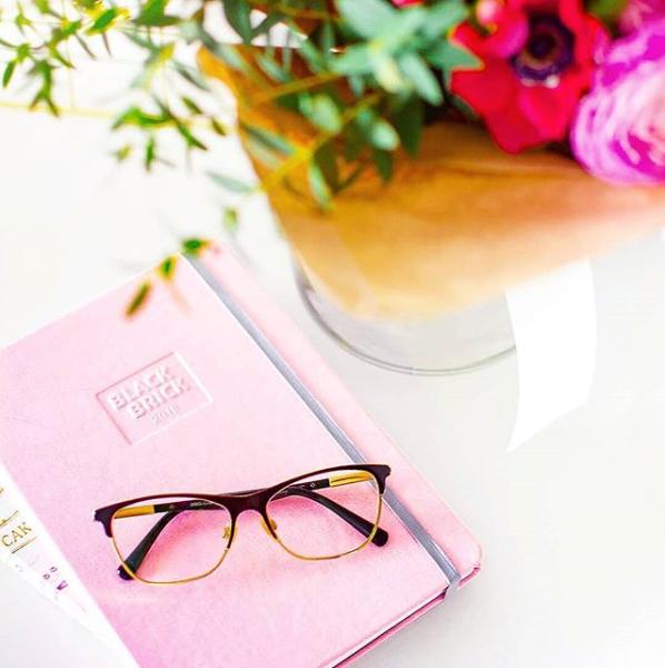 Zápisník Black Brick růžový