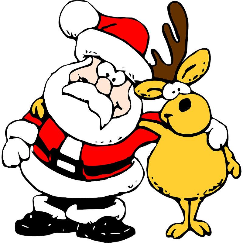 Santa se sobem na Ježíška nemají (Martezi.cz)