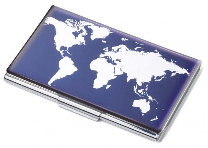 Business card case WORLD MAP