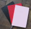 Notebook B5 dotted Black Brick red