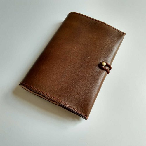Leather notebook cover VASCO A6 (choose from 22 colours) - Your colour: 2-yellow