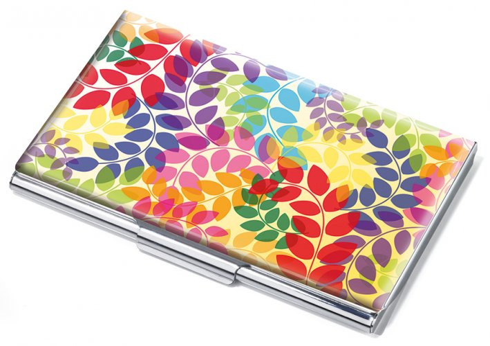 Business card case COLOURFUL LEAVES