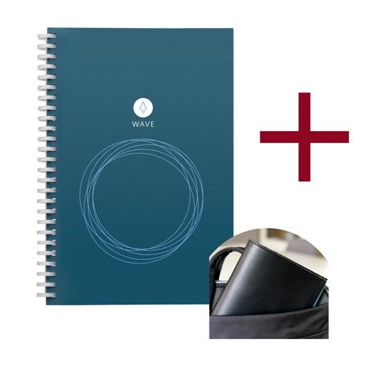 Rocketbook Wave s koženým obalem