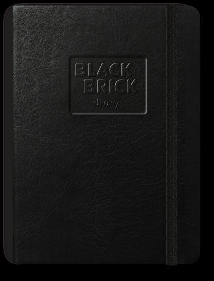 Diář kapesní A6 nedatovaný Black Brick černý