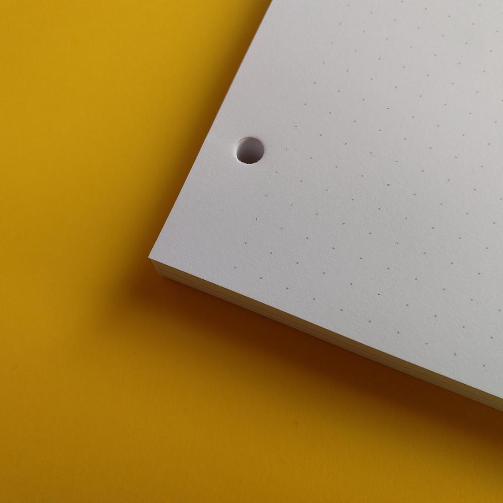 Bullet journal v kroužkovém zápisníku (Martezi.cz)