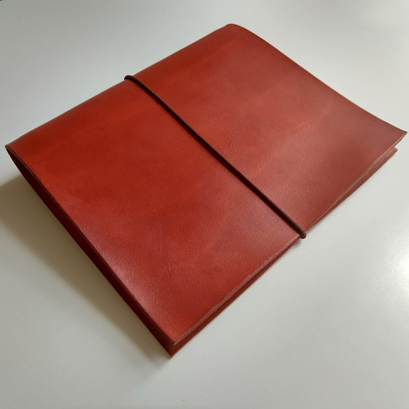 Kožený zápisník Marco v barvě tmavý ryzák