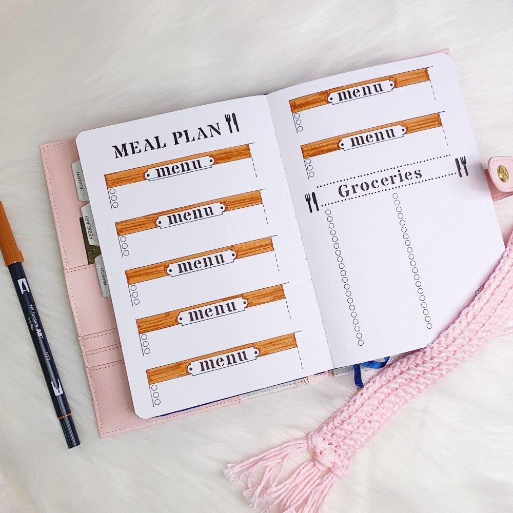Bullet journal třeba pro plánování jídelníčku (Martezi.cz)